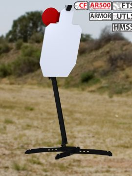 XMetal Targets Armored FTS IPSC hostage Combo Steel Targets