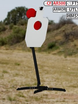 XMetal Targets Armored FTS IPSC hostage +1 Combo Steel Targets