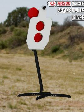 XMetal Targets Armored FTS IPSC hostage +2 Combo Steel Targets
