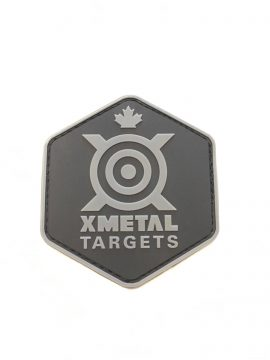 XMetal Targets Patch PVC Hexagon Noire